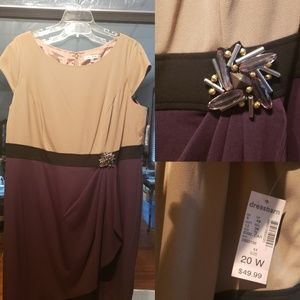 Plus size office or party dress ...fall colors
